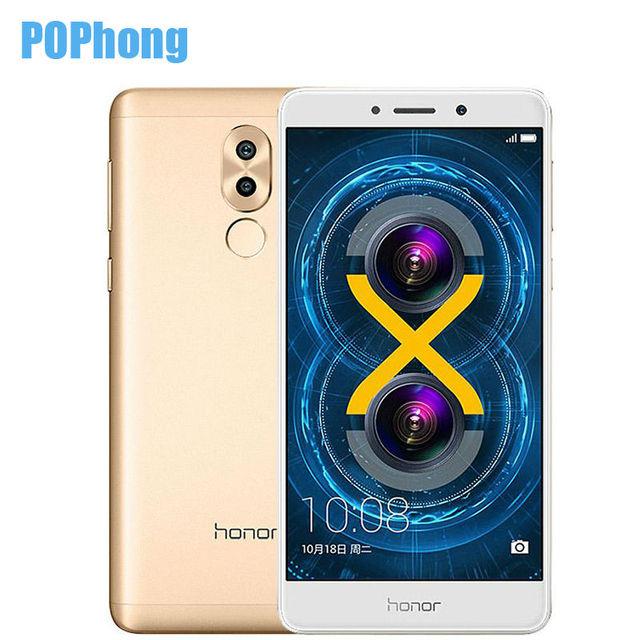 International Firmware Huawei Honor 6X 4GB RAM 32GB ROM 5.5 inch Smartphone Android 6.0 Octa Core Kirin 655 LTE 12.0MP+2.0MP