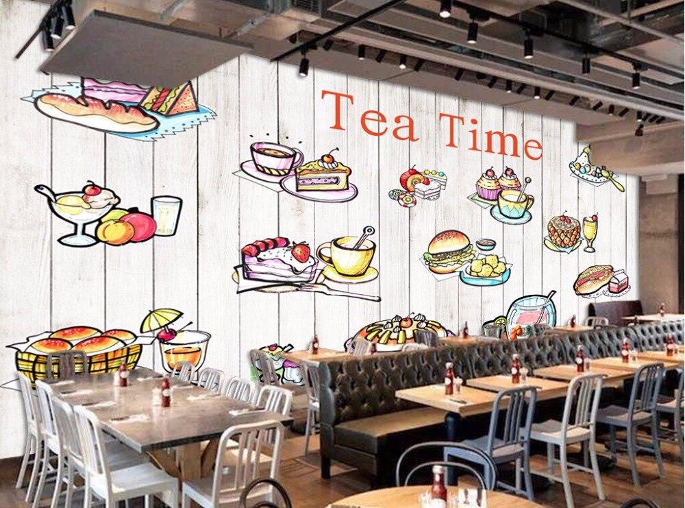 Custom Ood Wallpaper Hand Painted Food Icon 3d Cartoon