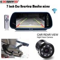 Koorinwoo CCD Parking Car Rear view camera with HD 7 Monitor Mirror Video Player 8 Ir Lights Reversing cam Car detector System
