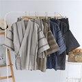 Хлопок кимоно пижамы Установить Для Мужчин японский стиль кимоно пижамы с коротким рукавом гостиная пижамы