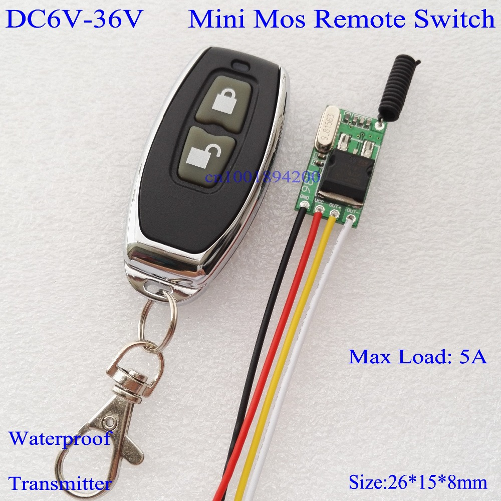 Wide Voltage RF Remote Switch Car Bus Motorcycle Truck Storage battery Light Lamp LED Mini Wireless Switch12V 13.8V 16V 24V 36V wide voltage rf remote switch car bus motorcycle truck storage battery light lamp led mini wireless switch12v 13 8v 16v 24v 36v