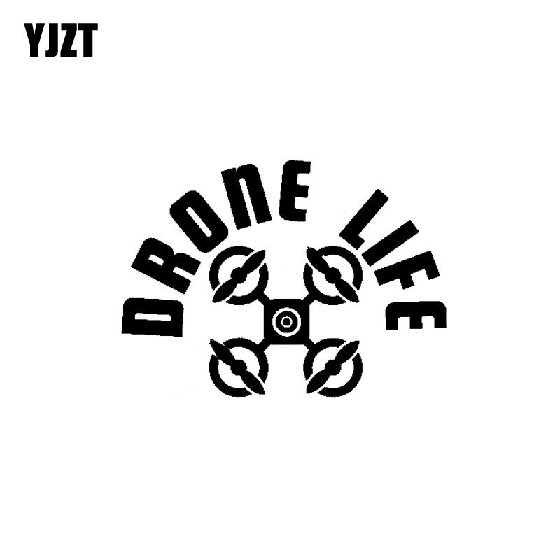 YJZT 13.6CM*9.9CM Drone Vinyl Decal Car Sticker