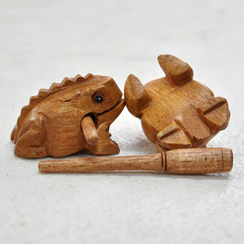 1 Pc Frog Mascot Brand New Hot Solid Wood Home Accessories Wood Crafts Wood Auspicious Fortune Carving Frog Mascot Decoration
