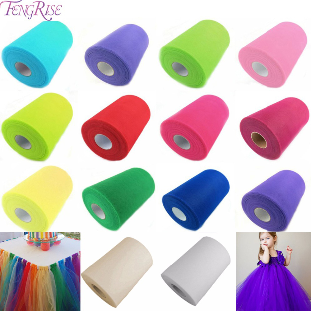 FENGRIS Gold Tulle Roll 25 100Yard Organza Roll Tulle Rolls Spool Tutu Wedding Decoration Birthday Party Kids nikmat Baby Shower