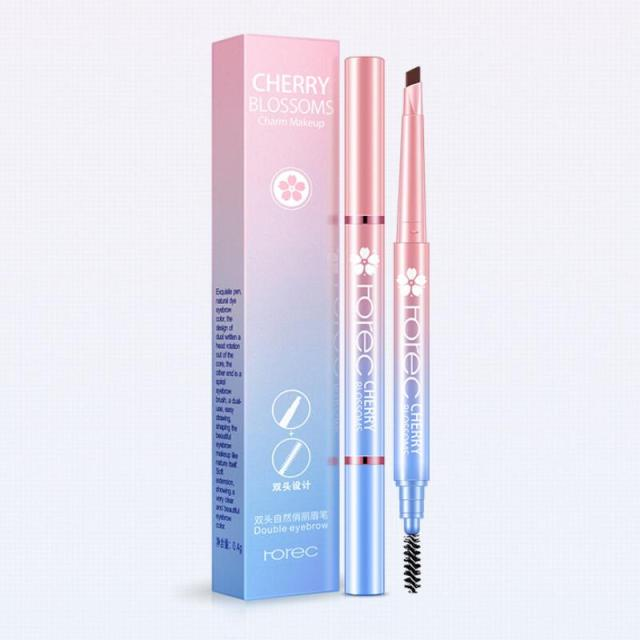 HanChan Rotatable Waterproof Eyebrow Pencil Natural Long Lasting Easy to Wear Eye Brow Pen Cosmetic Makeup Tool 5