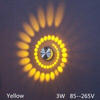 ספינה חינם אירופה 85 265 V 3 W led בר אור אלומיניום creative מסדרון מרפסת מנורת קיר רקע וילה ראש דלת מרפסת אור.-במנורת קיר פנימית LED מתוך פנסים ותאורה באתר