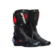 PRO-BIKER VITESSE BIKERS Moto Bottes Moto Racing Motocross Off-Road Moto Chaussures Noir/Blanc Taille 40/41/42/43/44