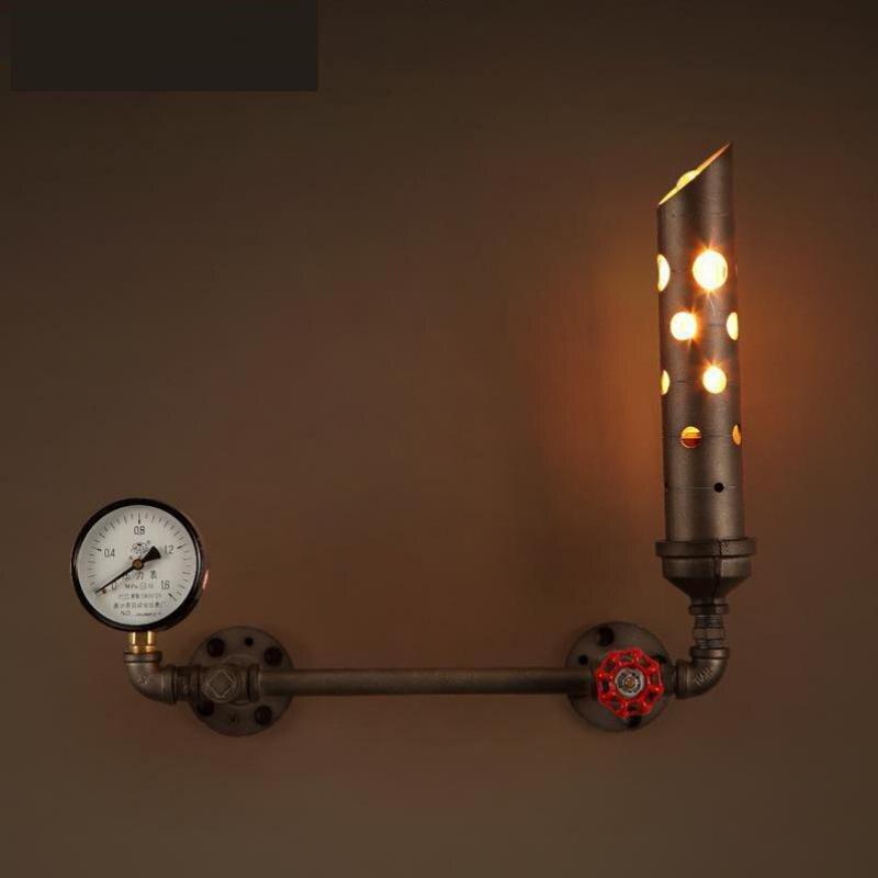 vintage Industrial Instrumentation metal Wall lamp sconce Novelty chimney bar wall light Retro rustic Wall Lights Arandela