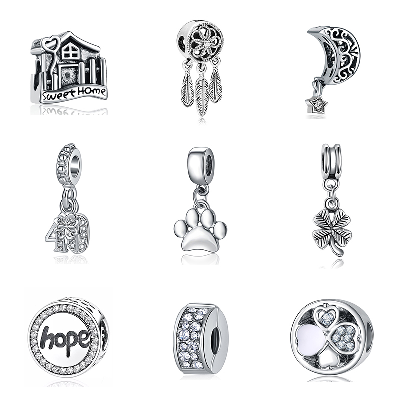 dolphin swimming Ocean Animal Cute Silver Charm charms bead beads pd chamila uk