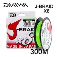 Daiwa Оригинал J-BRAID X8 300 м/330Yds Оригинал 8 плетеная рыболовная моноволоконная нить рыболовная PE плетеная линия 10-60lb Сделано в Японии