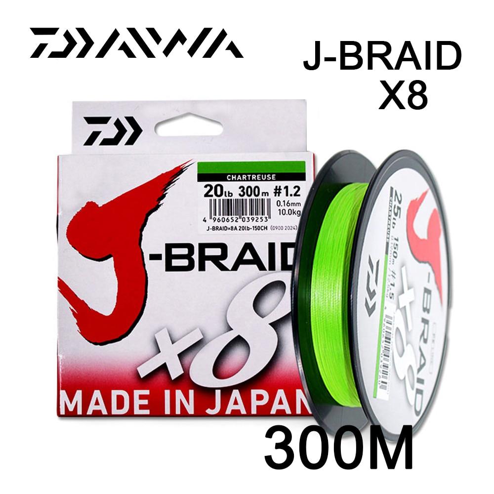 Daiwa Original J-BRAID X8 300M/330Yds original 8 braided fishing line monofilament fishing PE braided line 10-60lb made in japan