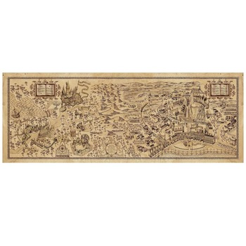 Retro Magic Wizarding World Map Famous Kraft Paper Vintage View Cafe Bar Pub Wall Poster Decorative Painting Sticker Stationery