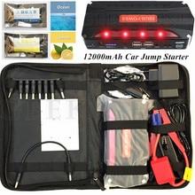 New Arrival Geek Gene12000mAh Emergency Car Jump Starter Mini Portable 4USB Power Bank SOS Light 600A Peak Car Charger Free Ship