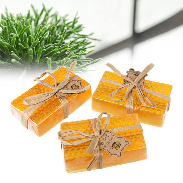 HandMade Honey Soap Whitening Peeling Glutathione Arbutin Kojic acid Soap Skin Care Lover's Gifts