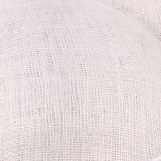 Элегантные шляпки из соломки синамей с вуалеткой хорошее Свадебные шляпы высокого качества черного цвета Клубная кепка очень хорошее 17 цветов MSF099 - Цвет: Белый