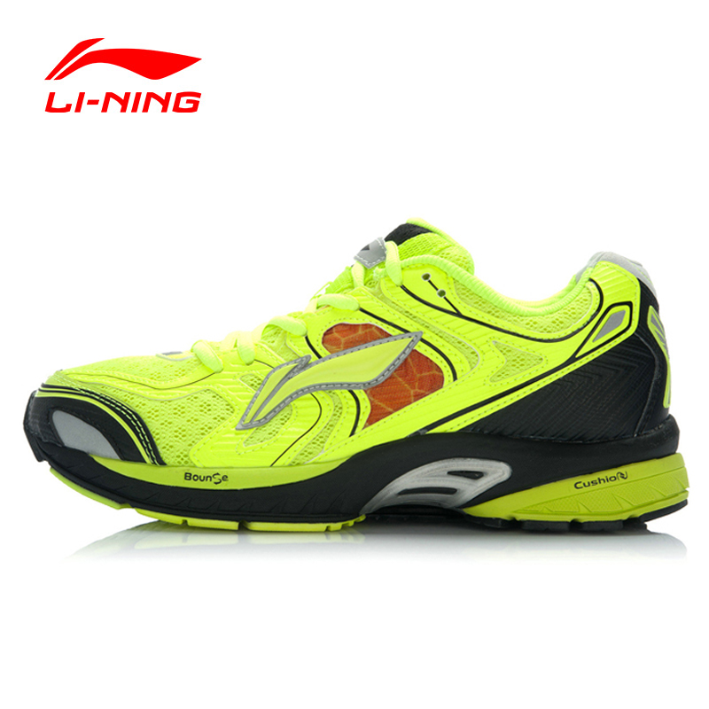 Li-Ning Outdoor Running Shoes Men Lace Up Breathable 3M Reflective Stability Cushioning Sneakers Sport Shoes ARGJ001 XYP258 original li ning men professional basketball shoes