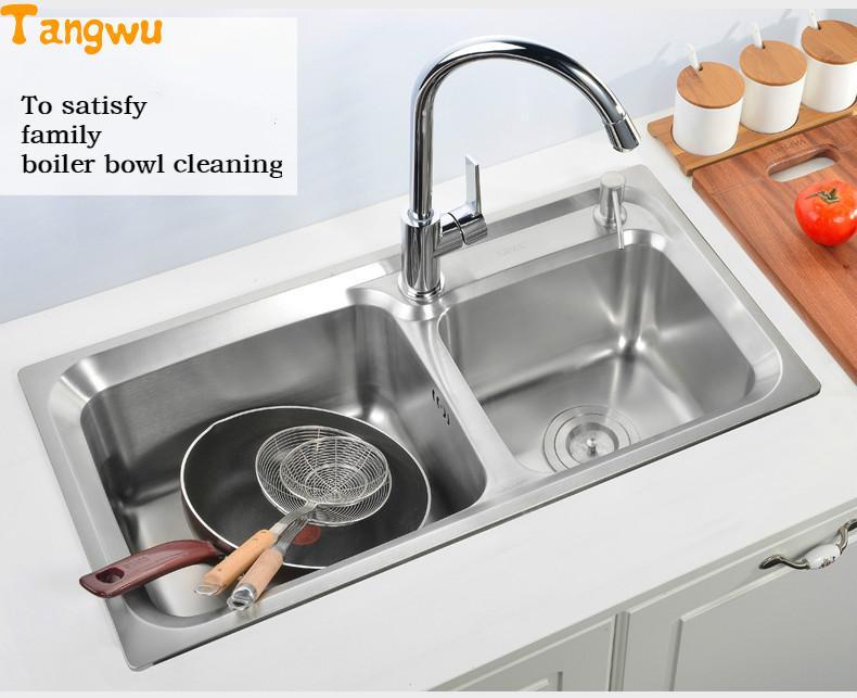Vasca Da Bagno Doppia : Tangwu bwash piatto doppia vasca da bagno in acciaio di lavaggio