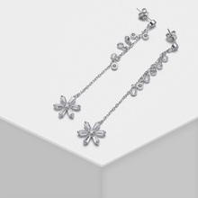 Amorita boutique 925 silver Floral design stylish elegant drop earrings