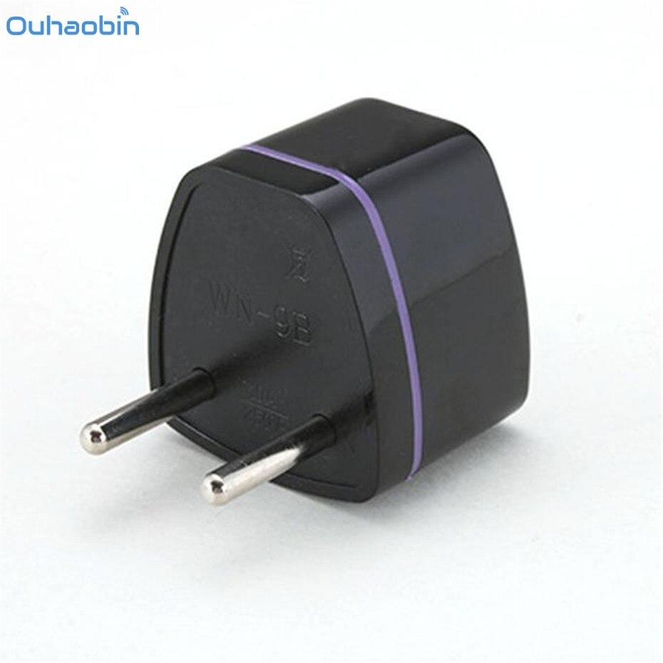 Ouhaobin 2Pin Plug AU UK US Canada To EURO EU Travel Adaptor Plugs Converter Adapter White Travel Charger Plug Adapter Dec12