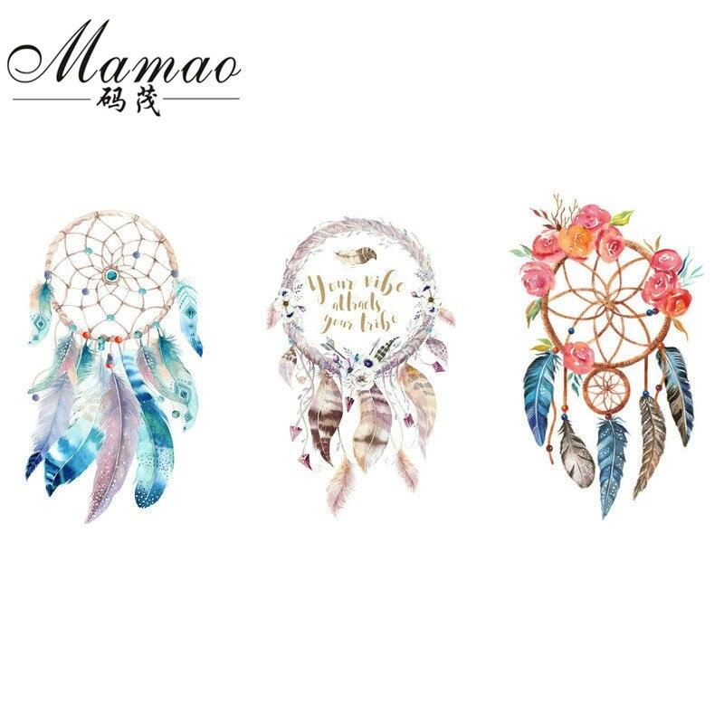 MAMAO Dreamcatcher Patch Geležis Perkėlimas Flamingo Gėlių - Menai, amatai ir siuvimas