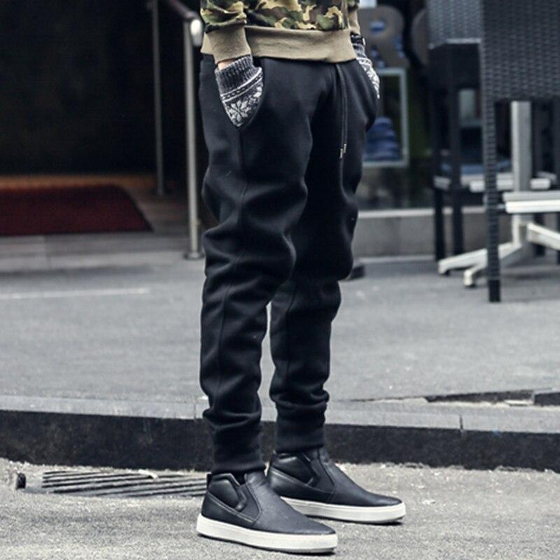 Joggers Sweatpants Men New Hip-hop Sweatpants Men Solid Casual Harem Pants Masculino Brand Mens Thicken Cotton Trousers K463