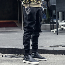 joggers sweatpants men new hip-hop sweatpants men solid casual harem pants masculino brand mens Thicken cotton trousers K463(China)