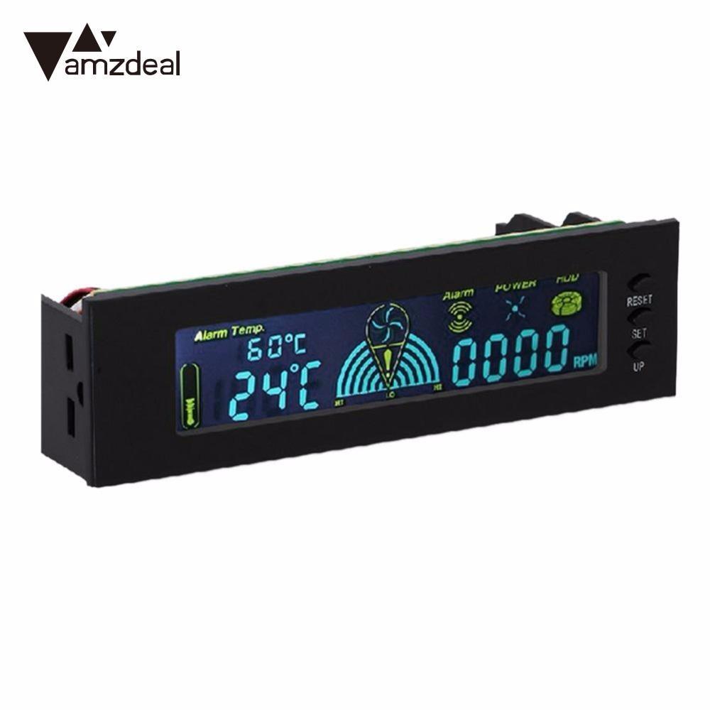 amzdeal STW 5006 Computer Case Smart Fan Speed Controller Automatic Temperature Controller PVC Screen CPU Temperature