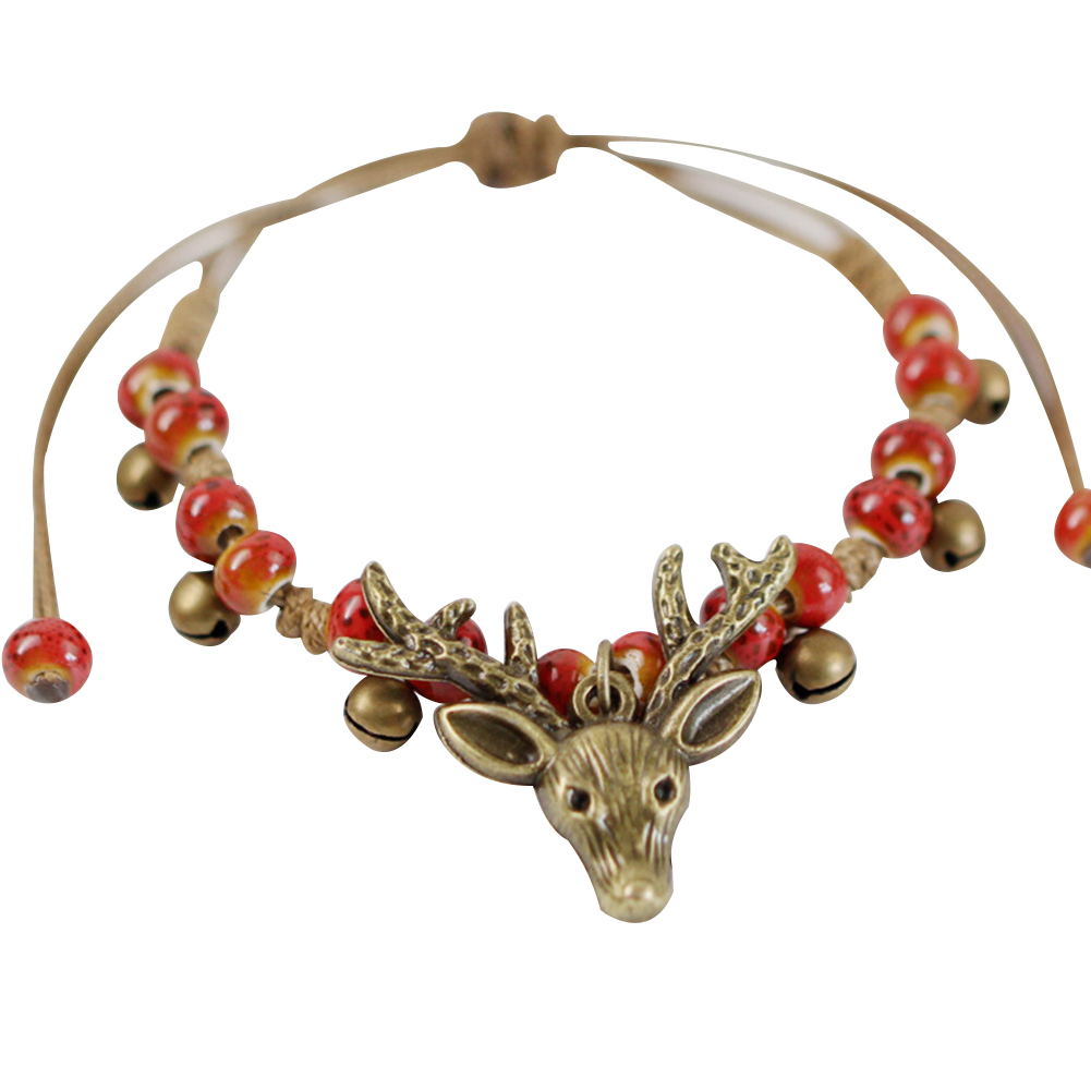Fashion Deer Head Ceramic Beads Bracelet Women Handmade Ethnic Style Jewelry