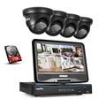 """SANNCE 10.1 """"ЖК 4CH HD 720 P DVR 1500TVL В/Открытый Дом, Камеры Безопасности Системы 1 ТБ"""