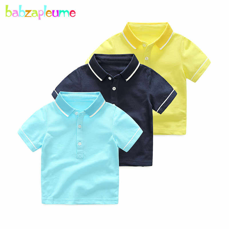 babzapleume 2-6Years 2018 Summer Fashion Kids Polo Shirts For Children Clothes Baby Boys Short Sleeve School Uniform BC1683-1