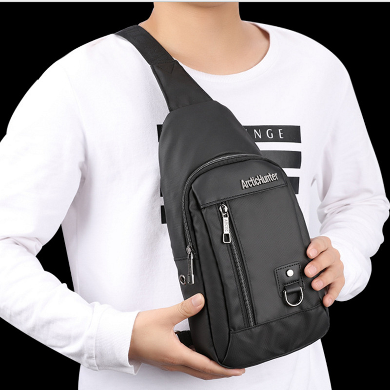 ARCTIC HUNTER Three colors Messenger Bags Leather Chest Pack Casual Men's Travel Shoulder Bag , Crossbody bag black blue hunter е warriors power of three 3 outcast