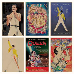 Queen retro Poster Retro Kraft
