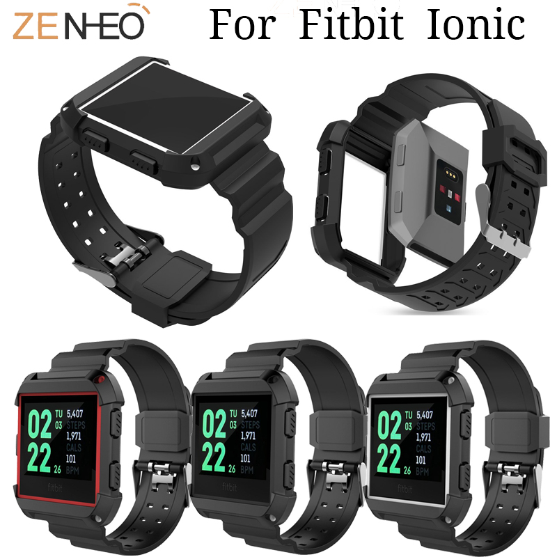 For Fitbit Ionic Sport Watches Straps Silicone Strap Watch Band Bracelet Replacement For Fitbit Ionic Smart Watch Wristband Belt
