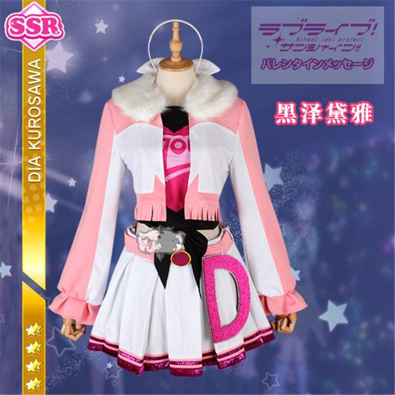Здесь продается  Cosplay Costume Dress Princess Full Sets  Lovelive!Sunshine! Aqours Miracle Wave Kurosawa Dia Daily Shcool Uniforms Dress   Одежда и аксессуары