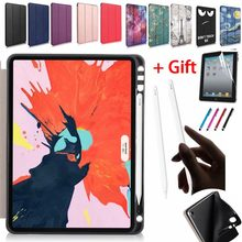Smart Magnetic Soft Case For New iPad Pro 11 2018 Release Ultra Slim Shockproof PU Leather Trifold Stand Cover For iPad Pro 11(China)