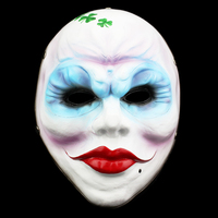 Horror Mask Halloween Joker Mask Game Payday 2 Theme Female Robbers Dance Collection Resin Masquerade Mask Terror Set Decoration