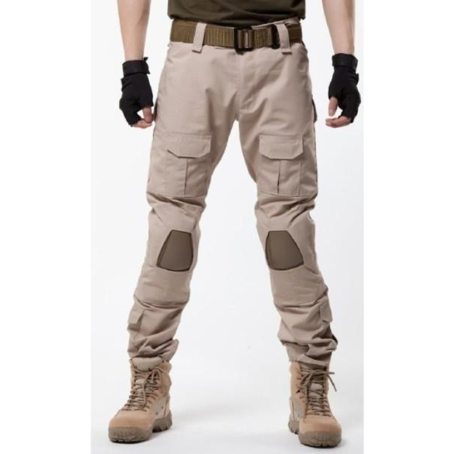 ФОТО Outdoor Camping Hiking pants men military tactical multi-pocket Cargo Pants W / knee pads CS wargame training pants