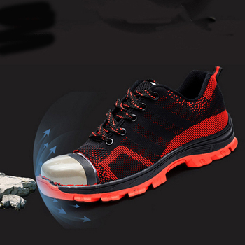 Casual Mesh Breathable Fashion Steel Toe Safety Mens Shoes