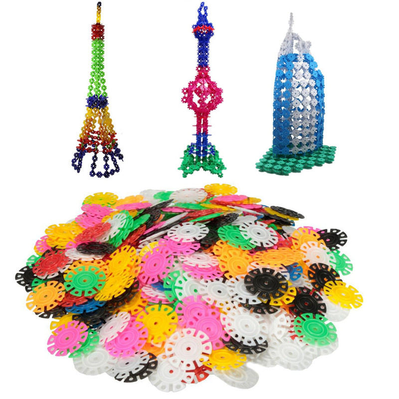 400PCs New Arrival Multicolor Kids Snowflake Building Puzzle Blocks Educational Xmas Toys Bricks DIY Assembling Classic Toy solar windmill w120 jigsaw puzzle building blocks environmental diy toy