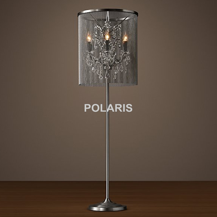 Factory Outlet Vintage Crystal Candle Lighting Rustic Matt: Factory Outlet Modern Vintage Crystal Candle Floor Lamp