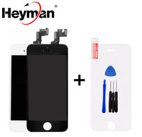 Heyman 5pcs Lot LCD For Apple IPhone 5 5S LCD Display Screen Assembly With Digitizer Glass