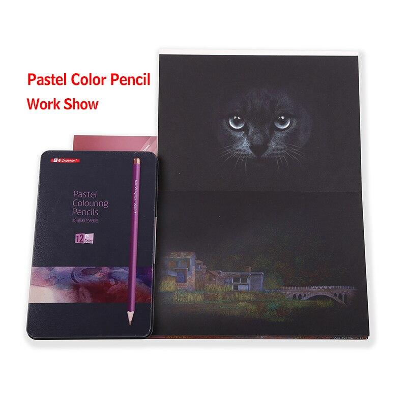 Dainayw 140gms 20 Blatt Schwarz Papier Karton Notebook Skizze Buch Für Marker Stift Farbe bleistifte Zeichnung graffiti Schule Liefert