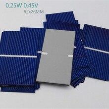 100Pcs Solar Panel China Painel Solar Polycrystalline Silicon Placa Solar DIY Panneau Solaire Solar Cells 52*26mm 0.25W