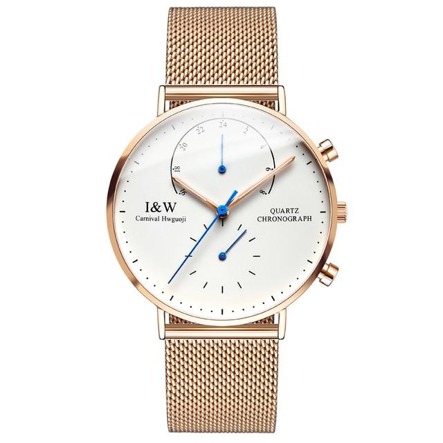 Luxury Brand Carnival Watch Men Japan Quartz Men Watches Luminous Watch Male Multiple Time Zone Military reloj hombre C8787G-2