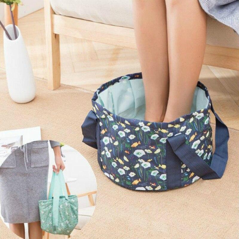 Multfunction Portable Folding Bucket Travel Footbath Clothes Washing Laundry Washbasin Travel Accessories
