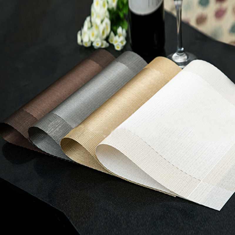 top quality 4pcs kitchen table bar mat pvc placemat square kitchen tool dining table mat bowl - Kitchen Table Mats