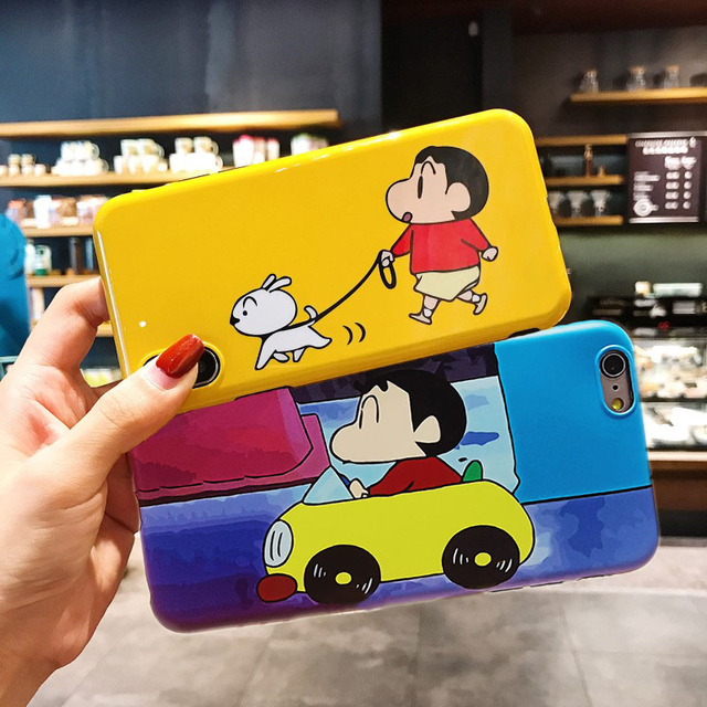Japan Cartoon Crayon Shin Chan Case for iPhone X XS Max XR Matte Soft  Silicone Cover Fundas for iPhone 8 7 6 6S Plus Capa Hoesje dd0b64aee25e