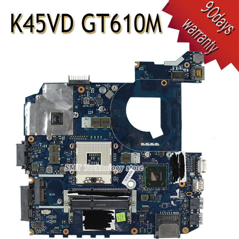 K45VJ K45VD A45V A85V K45VS K45VM A45VD K45VD motherboard For Asus LA-8221P Mainboard with graphics card GT610M 2G 100% tested for asus k45n k45 k45ei321vd k45a k45de k45vj k45vm k45vs keyboard