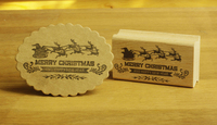 High Quality Merry Christmas Stamp 7 4cm Carimbo For Wooden Scrapbooking Rubber Stamps For Card Diy