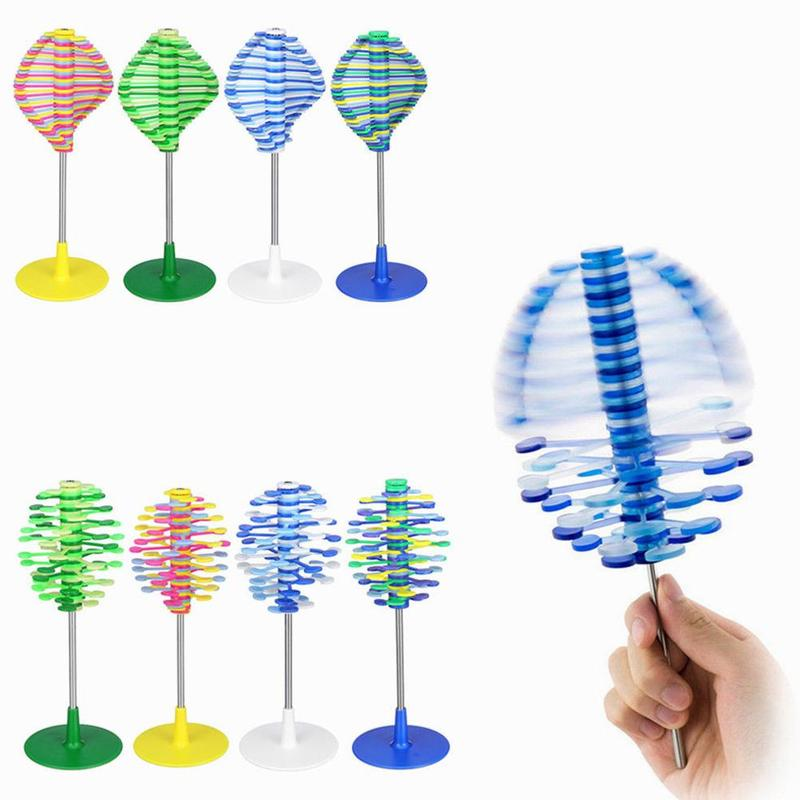 Anti-stress Rotating Lollipop Bendable Decompression Creative Stress Relief Toys PP Material Leisure Desktop Reducing Accessory